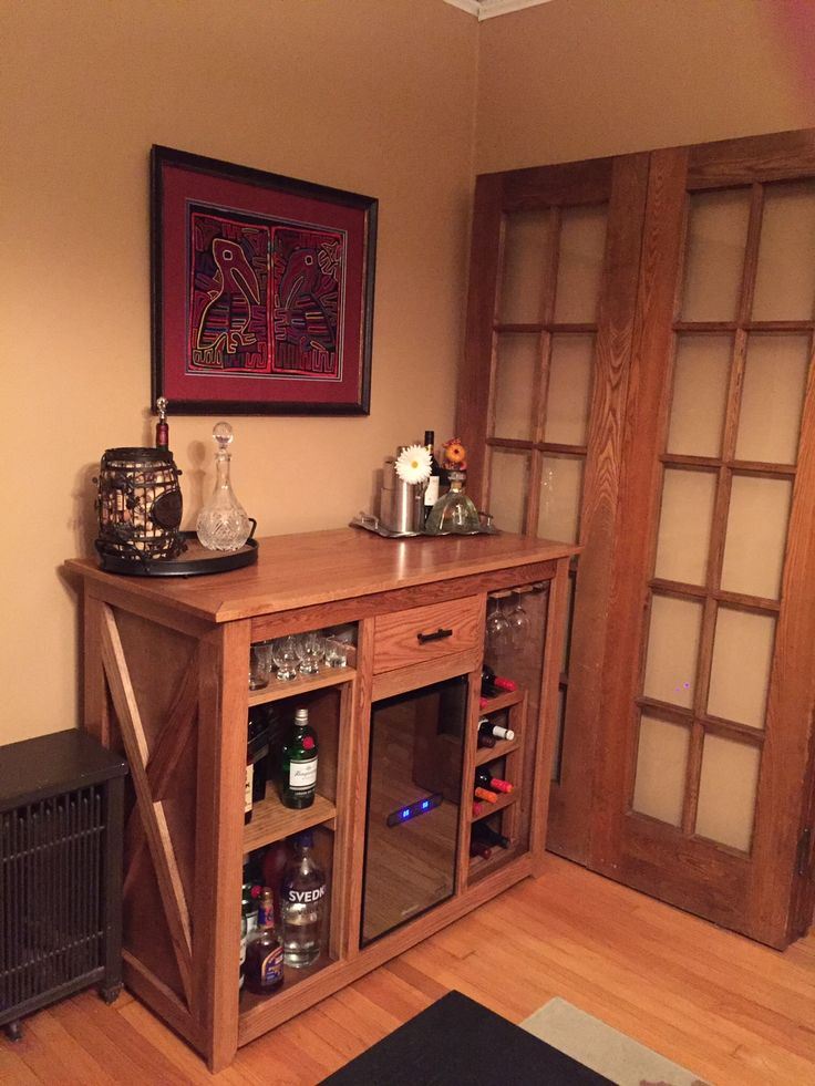custom wine fridge bar diy This would work very well in