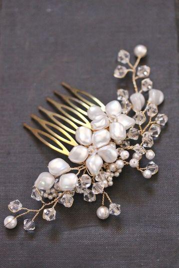 TABITHA pearl and crystal wedding headpiece | Percy Handmade
