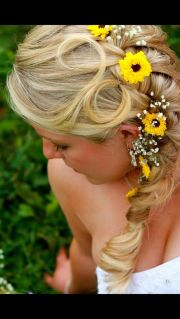country wedding hair