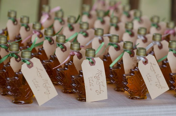 Maple Syrup Vermont Themed Wedding Place Cards Www