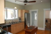 kitchen paint colors with maple cabinets | tried to get a ...