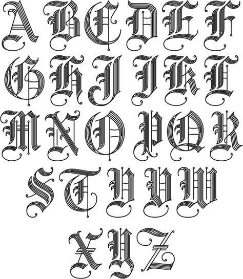 25+ best ideas about Cool fonts alphabet on Pinterest