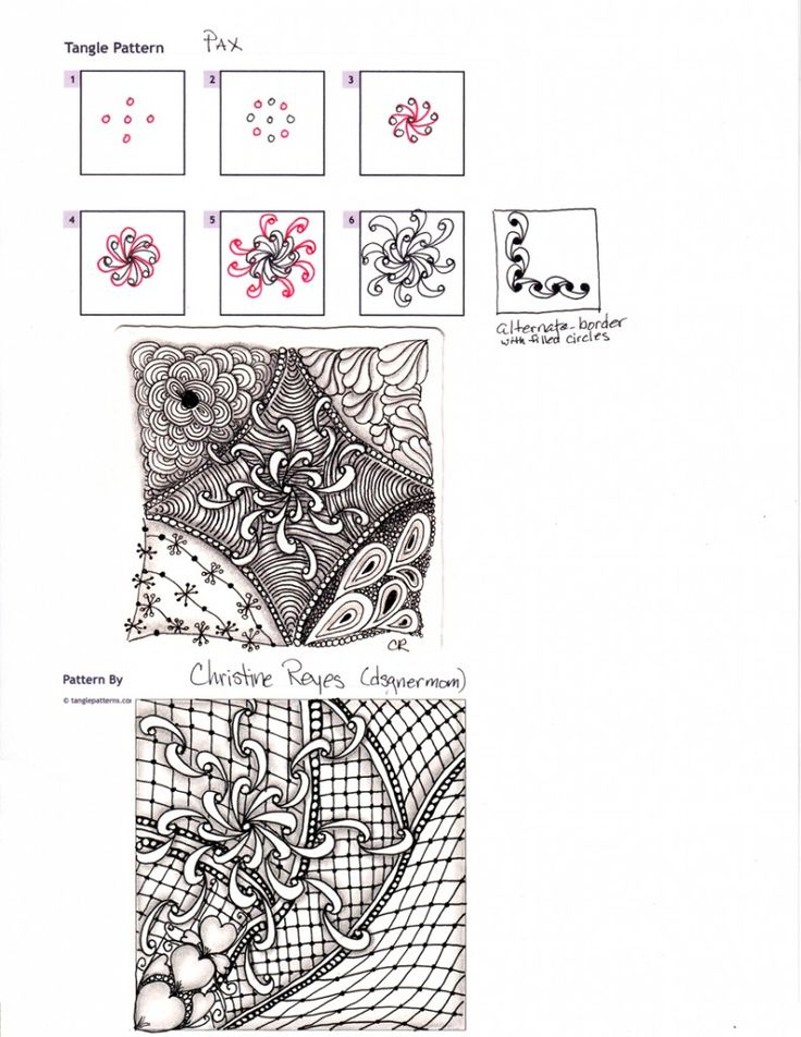 1000+ images about Zentangles, patterns and ZIA on