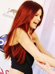 selena gomez red hair sel