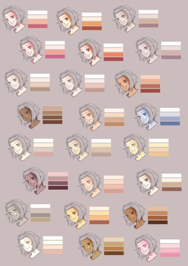 1000 images about Characters Skin tones on Pinterest