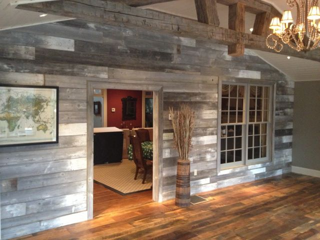 WhiteGray Barn Wood Wall by Reclaimed DesignWorks