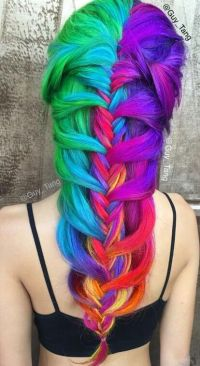 17 Best ideas about Rainbow Dyed Hair on Pinterest | Crazy ...