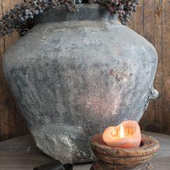 Large Vase For Living Room Best Wall Color Small Oude Waterpot Grijs - Potten, Kruiken & Vazen Huis Haard ...