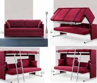 compact-bedroom-fixtures-ideas-with-magenta-sofa-bunk-bed ...