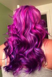 dye hair purple