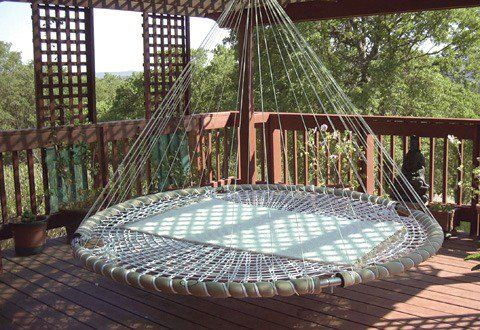 outdoor or indoor rigid hammock or hanging couch