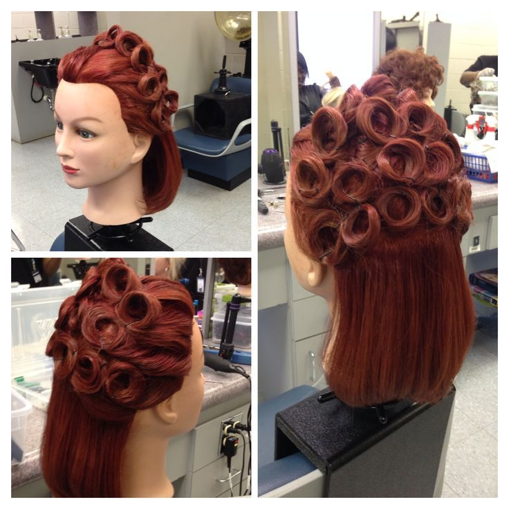 images of updo hairstyles with pin curl  Google Search  Updos  Pinterest  Updo Vintage and