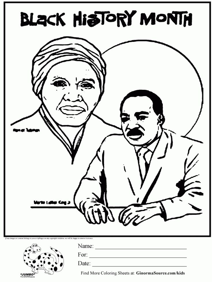 Best ideas about Black History Month Coloring Pages