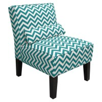 Chevron Accent Chair in Teal & White | For the Home ...