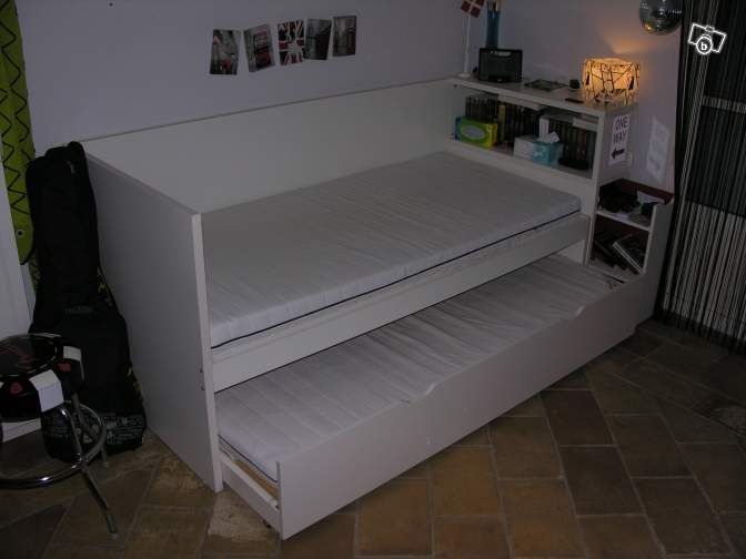 Ikea Flaxa Trundle Bed With Headboard That Has