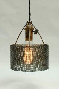 Industrial Perforated Metal Drum Lamp Shade Number 2 ...