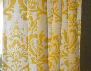 Yellow And Grey Window Curtains