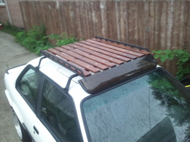 Wood Wooden Roof Rack Car Diy Home Made Homemade Wooden Diy Homemade Roof Rack Pinterest