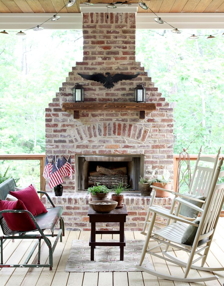 Best 20+ Fireplace on porch ideas on Pinterest