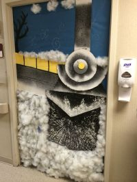 Polar Express diy door idea