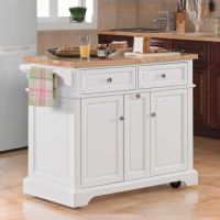 White Kitchen Island On Wheels | Lovely with Wheels: White ...
