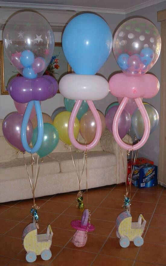 Baby shower decorations Pacifier shaped balloons for