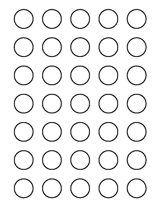1 inch circle pattern. Use the printable outline for