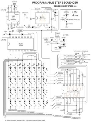 Programmable step sequencer | Electronic circuit | Pinterest
