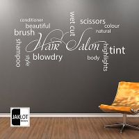 HAIR & BEAUTY SALON - Wall Sticker Hairdressing Art ...