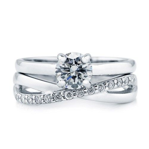 Round Cut Cubic Zirconia Cz 925 Sterling Silver Solitaire