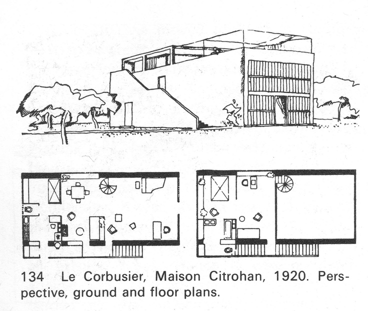 Le Corbusier Maison Citrohan 1920 (from Frampton