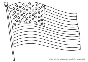 American flag coloring page.   Patriotic   Pinterest ...