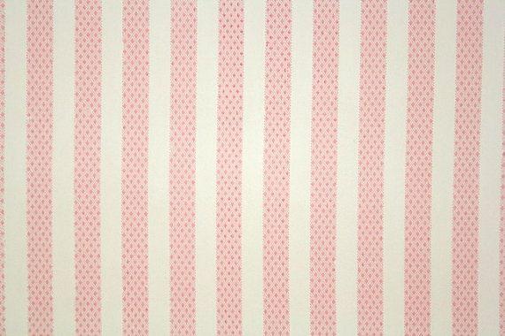 Baby Girl Nursery Wallpaper Borders 1940 S Vintage Wallpaper Pink And White Stripe Cute