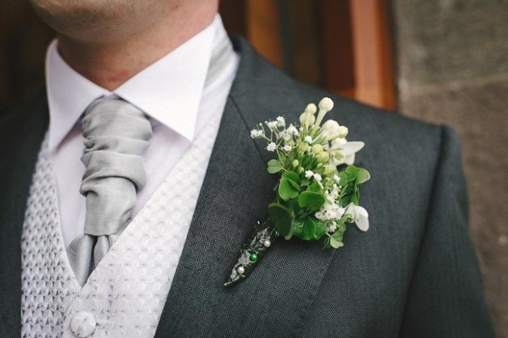 Shamrock buttonhole Irish wedding  weddings simple tapestry  Pinterest  Happenings