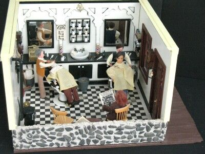 Dollhouse Miniature Barber Shop Miniature Shops Amp Store