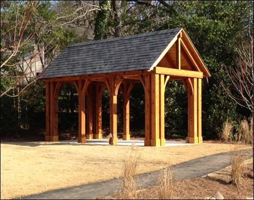 Cedar Post Front Porches Gable Roof Cedar Pavilion Shown