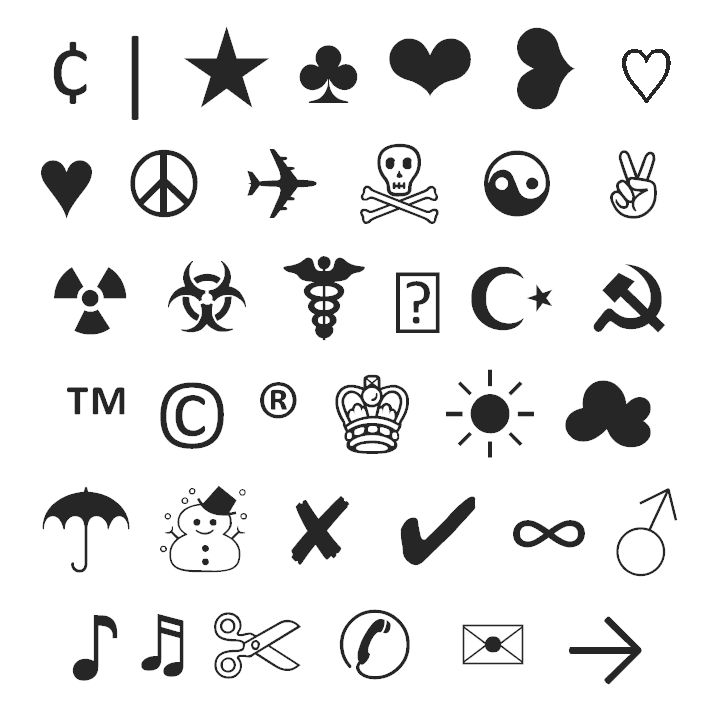 82 best images about Typograph Art/Emoticons/Symbols on