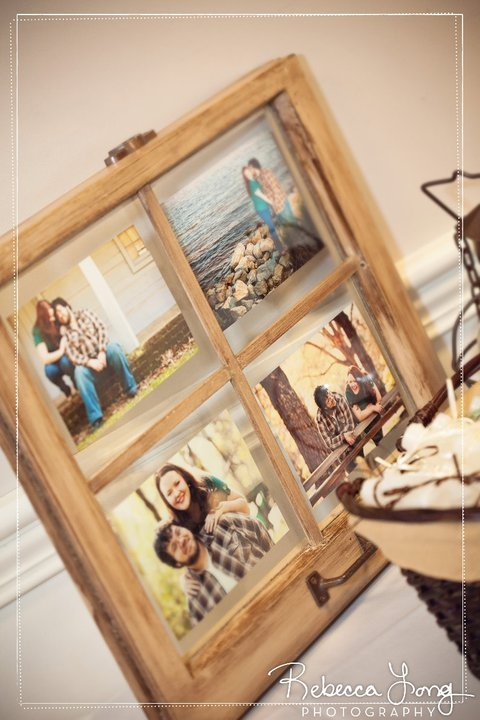 Love reusing old windows as frames, mirrors, etc.
