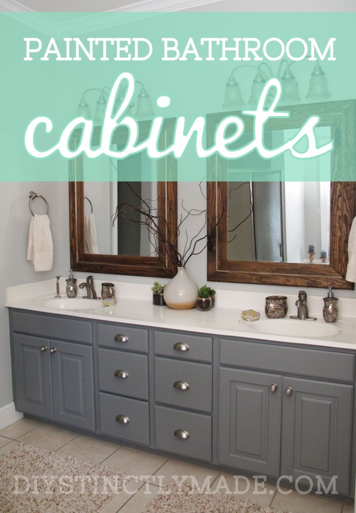 25+ best ideas about Painting Bathroom Cabinets on