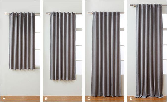 Common curtain lengths  Window Treatments  Pinterest