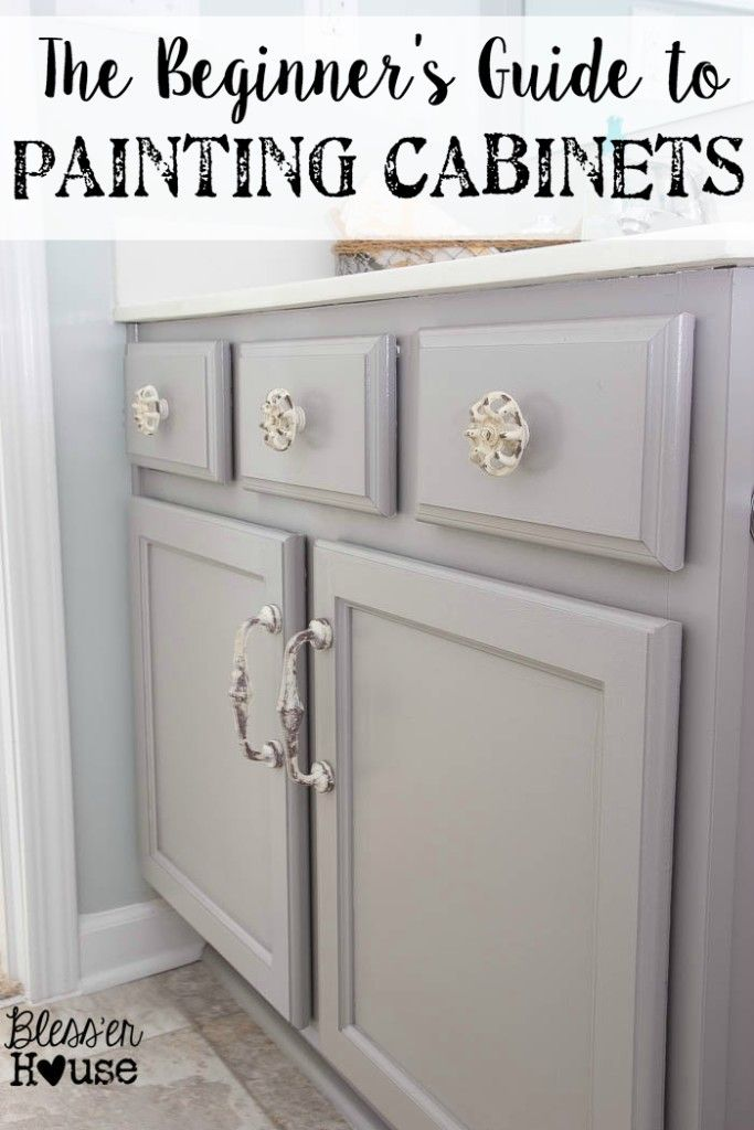 The Beginner's Guide to Painting Cabinets | Bless'er House – All of the steps easily broken down and explained along with the