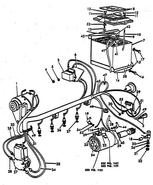 ford 2000 tractor starter wiring