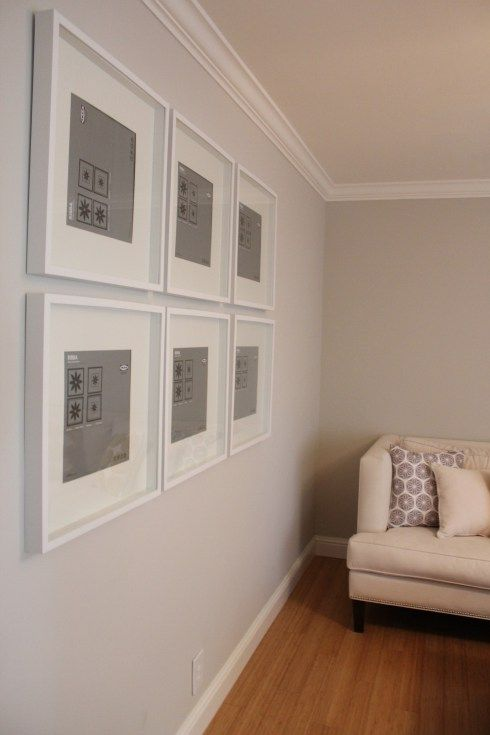 living room decor with grey walls area rug in gallery wall using ikea ribba frames | photography ...