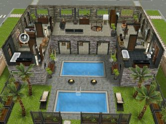 sims freeplay layouts level houses casas awesome floor layout plans modern play beach simsfreeplay blueprints una variation