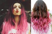purple and pink ombre hair black