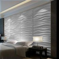 Modern WAVES 3D Wall Panel Textured Glue on Wall tiles