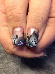 halloween airbrush nailart