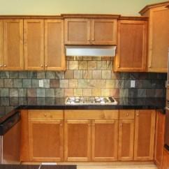 Kitchen Cabinet Reface Farmhouse Table Backsplash With Slate Tile 6x6   Ideas Pinterest ...