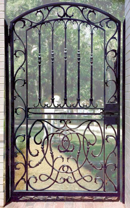 47 best images about Wrought Iron Fences and Gates on Pinterest  Entry gates Iron gates and