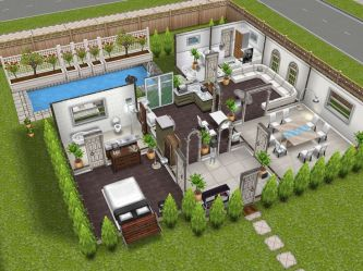 sims freeplay plans plan houses sim play simsfreeplay level modern story floor ground homes inspiration layout designed interior los mansions